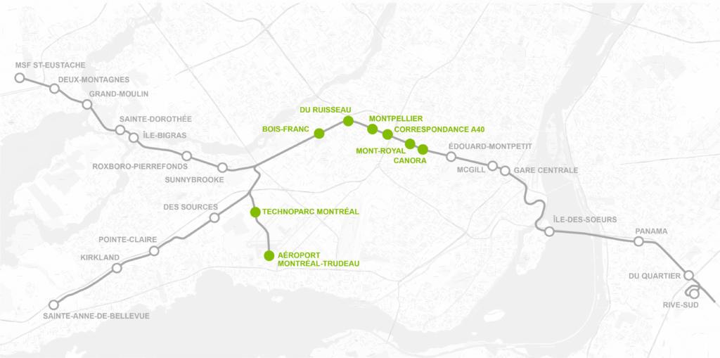 Montréal - Centre et aéroport/Montréal - Centre and Airport